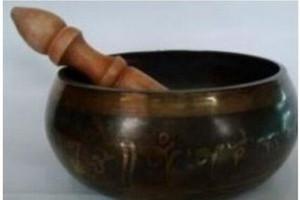 Spedizione gratuita in metallo artigianato asiatico tibetano bronzo Buddha Mantra Singing Strike Bowl