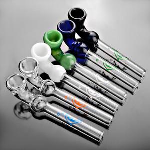 Nova chegada 5 polegadas tubos de vidro curtas mini-mão tubulação de fumo para ervas shisha bongs narguilé vidro