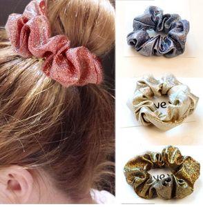 Novo 1 pcs Rabo De Cavalo Sólidos Hairband Cabelo Accesorios Coreano Glitter Senhoras Scrunchie Cabelo Corda Moda Feminina Cabelo laços boho