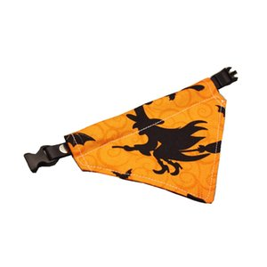 Halloween Witch Kitten Bandana Pet Leash Plaid for Cats Collar Treat or Trick Accessory Toy Tree Small Dogs Puppy Teacup Poodle Ornament