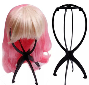 high quality wig accessories wig special bracket plastic Wig Stand black and white blue powder four-color supply