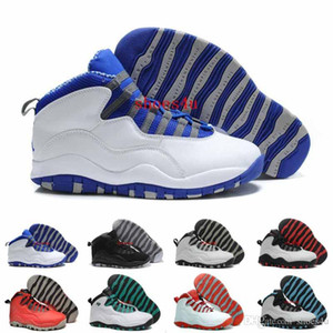 [Con scatola] Economici 10 Parigi NYC CHI Rio LA Hornets City Pack Vivid Rosa 10s Uomini Scarpe da basket Sneakers X Scarpe sportive 41-47