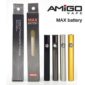2PCS Amigo Max Vape Pen Батарея Max аккумуляторных батареи 510 Thread Батарея 380mAh Регулируемое напряжение для Форсунки Испаритель Картриджи Танки с USB
