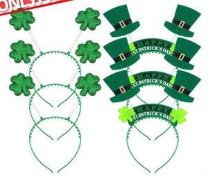 Ирландский День Святого Патрика оголовье зеленый Лепрекон hairband трилистник пряжки необычные платья карнавал рождественские шляпы C201