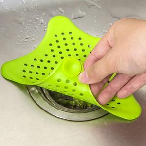 Красочные силиконовые кухня раковина фильтр канализационные сливной душ сливной волос дуршлаги фильтр фильтр ванной пол сливной