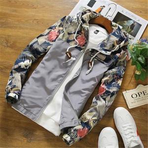 Asstseries Floral Bomber Jacket Uomo Hip Hop Slim Fit Fiori Pilot Bomber Jacket Coat Giacche con cappuccio da uomo Plus Size 5XL