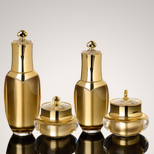 5 10 15 20 30 50 g Kronenförmiger Cremetiegel 30 50 80 100 ml Airless-Pumpenlotion aus Acryl Flasche Leere Kosmetikverpackungen