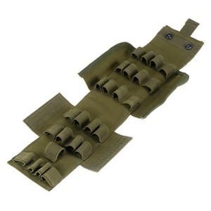 Molle Tactical Gear 12 Calibre 25 Bullets Bag Juego de guerra Bullet Paquete Escopeta de munición de cañón Portador Enthusiast Military Magazine Municiones Shells Bag