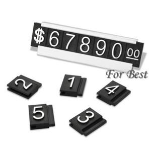 All'ingrosso-argento 30 fissa il trasporto libero dei monili Prezzo Etichetta visualizzata Tag regolabile Segno numero del contatore cubo dollaro con il basamento Base