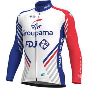 겨울용 자켓 열 사이클 용 자켓 CLOTHING LONG JERSEY ROPA CICLISMO GROUPAMA FDJ 2018 TEAM SIZE : XS-4XL