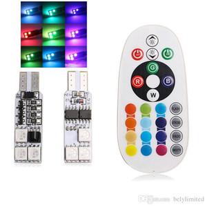 10 set nuovo telecomando RGB di alta qualità T10 Lampadina a led 6smd5050 Lampadina a led, auto e telecomando.