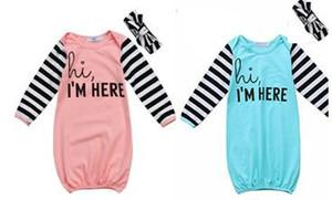 جديد تسلق الملابس الحجاب + قميص طويل الأكمام مجموعتين للجنسين الطفل من قطعة واحدة كيس النوم ملابس الأطفال 80CM 2 الألوان
