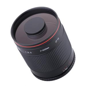 500mm F / Canon 7D 760D 77D 80D 650D 1200D 100D Nikon DSLR Kamera için T2 Adaptör Ring 8.0 Telefoto Ayna Objektif