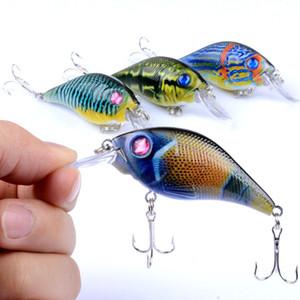 7.5 cm 10.2g Richiamo di pesca a gomito Pesca Wobbler duro Richiamo Iscas Artificiais Crankbaits Carp Fishing Tackle