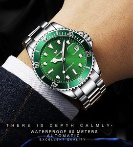 Новый черный мужской скелет наручные часы из нержавеющей стали античный стимпанк повседневная автоматическая кожа тактические часы механические часы мужской