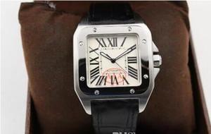 Новый бренд спорт класса люкс 100 XL черные мужчины дата автоматические механические часы мужские часы спорт 40MM кожаный ремень Оригинальная застежка