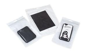 Saco selado Transpatent Branco pérola saco de filme resealable saco zip Claro pouch embalagem de vácuo para produtos 3C
