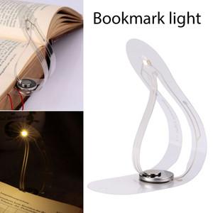 Flexible LED livre lumière Mini Creative Bookmark lampe de table Nouveauté Night Light bouton batterie Clip-on lecture livre lumières pour ordinateur portable