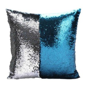 Wholesale Sequin Pillow Case cover Mermaid Pillow Cover Glitter Reversible Sofa Magic Double Reversible Swipe Cushion cover 40 Pillow Case