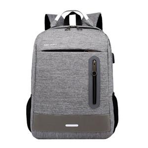 Charge USB Sac à dos Unisexe Casual Business Computer Sac à dos Voyage Tote Bag Male Design Patchwork Zipper Épaule Sacs à dos # 23