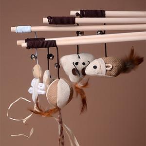 jouet pour chat mignon animal oiseau conception jouet chien plume chat taquin jouet bâton en bois pour les chats Produits pour animaux de compagnie enfants Promotion