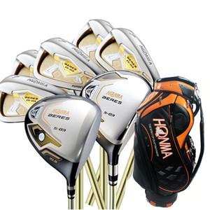 Оптовая новые мужские гольф-клубы HONMA S-03 3star Compelete set Golf Driver+3 / 5wood + утюги + сумка графит гольф вал бесплатная доставка