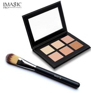 IMAGIC 6 Farben Contour Palette Concealer Make-up Party Contour Palette mit Make-up Pinsel Maquiagem Gesicht Creme Palette