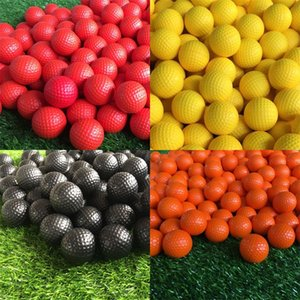 Pelota de golf PU Espuma Deportes Luz elástica Interior Práctica de entrenamiento al aire libre Mezcla Color Esponja Venta caliente 0 58jh V