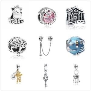 Plus récent livraison gratuite MOQ20pcs européen océan clé rose croix coeur arbre généalogique diy bijoux perle Fit Pandora Charm Bracelet D036