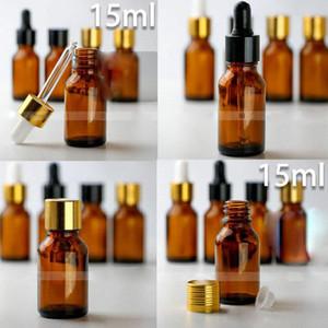 سعر المصنع رخيصة! 15 مل الزجاج الزيوت العطرية زجاجة زجاجات بالقطارة الزجاجية 0.5 أوقية قارورة العطر إعادة الملء زجاجة عينة