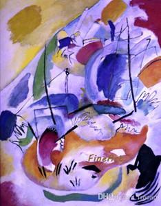handgemachte Wassily Kandinsky berühmter Künstleranstrichreproduktion Art- DecoMalereiverkauf schöne Grafikmalereihauptdekoration