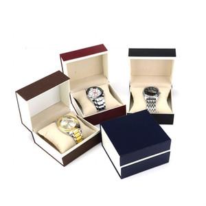 Квадратный один часы коробки бумаги корпии один слот наручные часы коробка часы случаи с подушкой ювелирные изделия дисплей ящик для хранения ZA6339