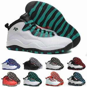 2017 Scarpe da Basket Uomo Sneakers 10 Paris NYC CHI Rio LA Hornets City Pack Vivid Rosa 10s X Scarpe sportive USA 8.0-13 Con scatola