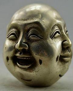 Healing Medicine Decorated Handwork Tibet Silver Carved 4 mood Buddha Statue Garden Decoration 100% real Tibetan