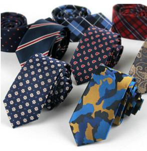 Nouveaux hommes 6cm cravates en fibre de polyester Cravates Noeud cravate Classiques pour hommes Cravates étroites Cravate design extrémité cravate arder Cravate