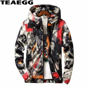 TEAEGG Artı Boyutu 6XL 7XL Kamuflaj Sıcak Kış Ceket Erkekler Parkas Hombre Erkekler Parka Pamuk Yastıklı erkek Kış Ceket Mont AL512