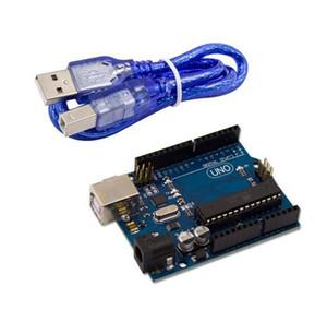 Freies Verschiffen Neue Version UNO R3 Entwicklungsboard MEGA328P ATMEGA16U2 Kompatibel + USB Kabel Für Arduino