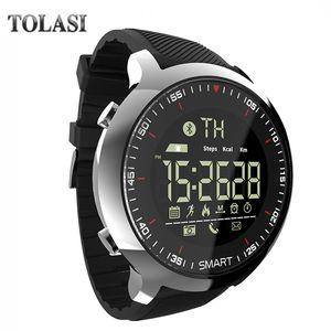 Comercio al por mayor EX18 Sport Smart Watch IP68 Impermeable 5ATM Pasómetro Xwatch Natación Smartwatch Bluetooth Reloj para Smartphone