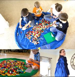 2017 colorido bebê jogar tapete de armazenamento de brinquedo de luxo sacos de jogar tapetes portátil brinquedos cobertor tapete caixas de brinquedos organizador de presente de natal dhl livre