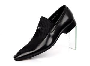 Neue Ankunft Männer Schwarz Formelle Schuhe Mode Spitz Rosshaar Freizeit Lederschuhe Für Mann Hochzeit Show Schuhe