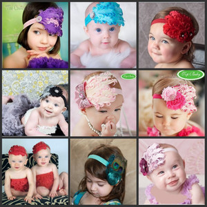 2019 New fashion Christmas baby headbands Boutique feather hair band kids Girls Lovely Cute hair accessors handmade feather hair band