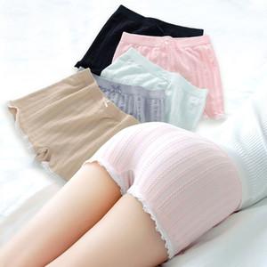 Fashion New Women Girls Elastic Tight Shorts Lace Stripe Under Skirt Safety Pants Boyshort Bowknot 6 Colors High Quality