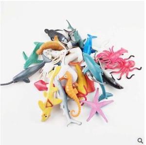 Tiburón delfines de plástico modelo de simulación de figuras pequeñas marina juguete vida animal juguetes de la novedad de la mordaza clasificadas para los niños 199