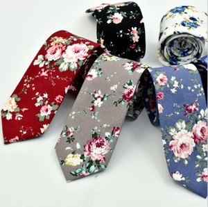 2018 Moda Acessórios Gravatas For Men Flores Pattern Wedding Party social Printing Homens Tie Formal Roupa Acessórios laços dos homens