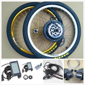 Toptan 20/26 / 27.5 / 29 / 700C Elektrikli bisiklet tekerlekleri 48 V 1000 W MTB motorlar 135mm plaj bisiklet Elektrikli arka tekerlek