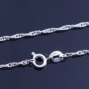 Mode Silber Gold und Rose Gold Wasser Wave Kette Halskette Diy Schmuck Ketten 18 20 22 24 Zoll