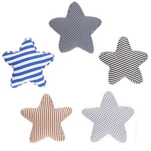 Five-pointed Star Cotton Canvas Pillow Mediterranean Style Stripes Cushion