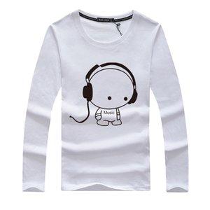 бренд тенниска мужчины 2018 года Мода Listening Мальчик Printed Модные шею футболки для мужчин с коротким рукавом Футболка M-5XL Бесплатная доставка
