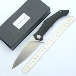 ووريورز زعنفة الطي سكين d2 الحرير شفرة g10 + الصلب التيتانيوم مقبض الجيب سكين أدوات التخييم المشي بقاء سكاكين
