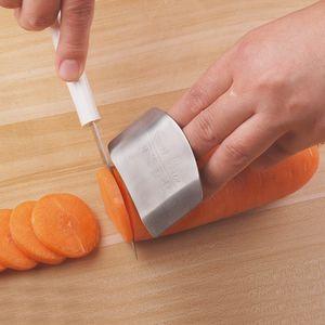 Küche muss haben! Edelstahl Fingerschutz Guard Safe Slice Küche Zubehör Kochen Werkzeuge